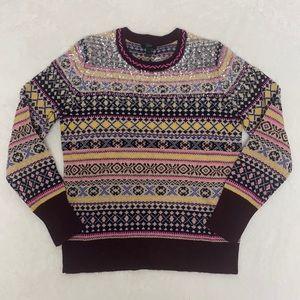 J Crew 100% lambswool fair isle sweater sz M NWT